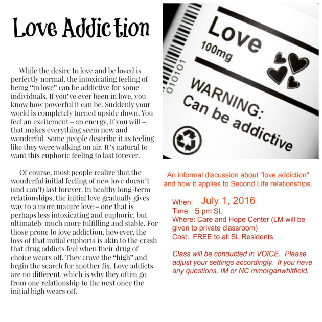 love addiction class June 2016